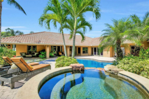692 Carica Rd., Naples FL Backyard Pool View